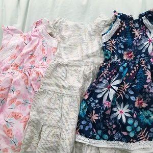 Lot of 3 Girls Dresses 5T